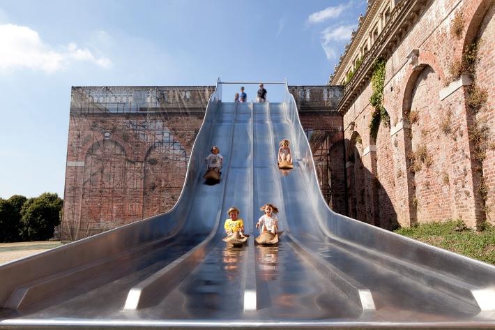 4 man slide, Cliveden, National Trust, Bucks, UK