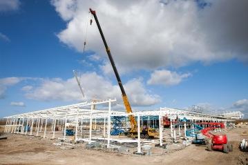 Sainsburys store construction site,  Middlehaven, Middlesbrough, 2015